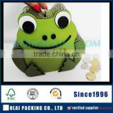 2015 luxury frog sharped wooden coin storage box