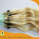 20 inch Straight Micro Ling Loop Human Hair Extension, Yaki Micro Loop Rings Hair Extensions