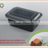 American PP food storage 1000ml PP Food Container with lid Black Microwave Safe SGA FDA APPROVAL
