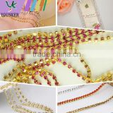 SS20 4.5mm Colorful Crystal Silver Plated Rhinestone Chain hanging crystal Wedding decorations, Garments Decoration YSCHC1015