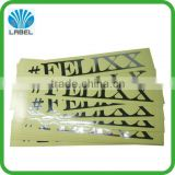 Best price best selling transparent plastic sticker sheet with silver stamping