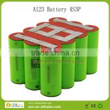 A123 12V 6.9Ah 26650 motorcycle battery pack