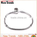Wholesale simple silver plated copper snake chain bracelet DIY chain bracelet