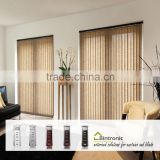 Bintronic Taiwan Aluminium And Building Materials Motorized Vertical Blinds Track Remote Curtain System