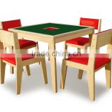 School Kids Wooden Table & Chair Set (Chalk Board Table)
