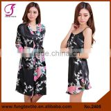 2405 Beautiful Polyester Two-piece Robe For Women