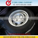 TRAZANO GOODRIDE WESTLAKE brand ECE and TUV certificate 165/80R13 & 4X100 trailer tires & steel rims