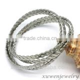 four pieces 316l stainless steel thread bangles