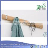 Wall hanging bamboo clothes hooks