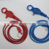 promotional spiral ropes palstic Casino lobster claw bungee cord lanyard