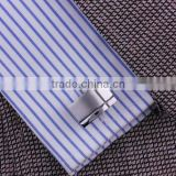 new discount noble stainless steel plain metall cufflink+anion