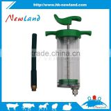 100ml veterinary plastic steel with rubber drencing nozzle syringe