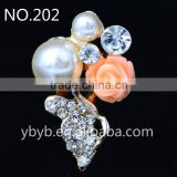 Shiny white dome shape metal shank pearl button-202