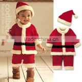 Baby boy christmas costume clothes/ Children's Winter Suits Wholesale Santa suit baby christmas clothes