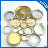 Brass/iron with zinc plated/stainless steel water seal plug/engine cap/bowl type seal plug