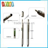 5 in 1wholesale stylus touch pen with level and screwdriver pen