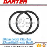 Rotary motion part easy to clean scientific design 50Clincher 23mmWidth spin mountain bike rims