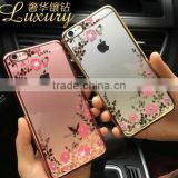 2016 Newest Fashion Luxury Secret Garden Flower Diamond Bling Soft TPU Back Case Cover For Apple iPhone 6 6s plus 5S 5 4S 4