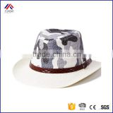 wholesale kids summer beach casual top quality camo paper sun protection cowboy hats
