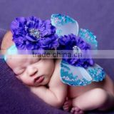 Baby butterfly wings & headband sequin and colorful drill matched baby photography from Kapu