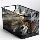 High Quality Office Desk Stationery Storage/Home Storage Metal Mesh Black CD Rank/CD Box