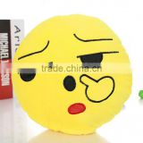 Cheap Hot Sale Soft plush emoji pillow stuffed toys Wholesale big size cushion