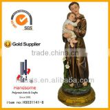12'',resin St.Anthony and child statue,resin St.Anthony with baby,St. Anthony of padua figurine