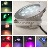High quality 12V 9W white / green / blue / red underwater pond led lights