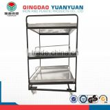 Multifunctional roll box pallets, transport wire cage trolley, foldable roll cage for sale