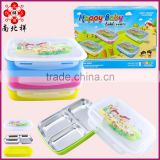1L 3 Compartments Stainless Steel Tiffin Lunch Box
