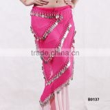 Tribal triangle belly dance coins belt belly dance triangle hip scarf
