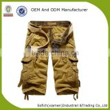 Running mens cargo shorts with 100% cotton