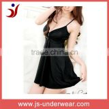 Woman fashion first night sexy silk sleeping dress