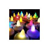 Customized flashing seven colors Floating LED Candles of ABS plastic