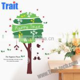 High Quality 50*70cm Removable PVC DIY Birds and Tree Decorative Wall Sticker PVC Home Deco Wall sticker