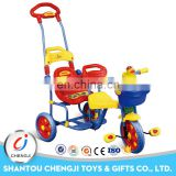 Three wheels fashionable model baby tricycles for twins
