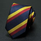 Mens Suit Accessories Red Mens Silk Necktie Satin Striped