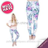 Tropical pink flowers fancy hot fit high quality girls stretch crossfit pants 3d femme tight sale mix lularoe woman leggings