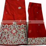 New Design Stones Hand Work Big George fabric Wrappers with blouse