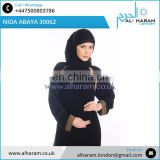 Modern Saudi Islamic Clothing/Dubai Abaya 2017/Nida Fabric Black Muslim Latest Designs Nida Abaya