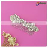 Rhinestone bridal accessories silver color hair comb