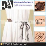 BT0638 Fashion Handmade Shell Wooden Beads Braid Women Chain Belt for Dresses Wholesale