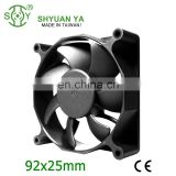 92x25mm Brushless 12v 24v 24v DC Cooling Fan