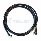 3 meter Jumper cable 1/2''s 7/16 din male to din male right angle 1/2'' superflexible jumper cable