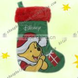 25cm christmas stocking with embroidered teddy bear