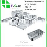 Restaurant & Hotel Supplies European Style Metal Stainless steel gastronorm container pan set