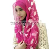 fashion Polyester Yarns muslim scarf