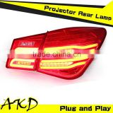 AKD Car Styling Chevrolet Cruze Tail Lights 2009-2014 Cruze LED Tail Light glk led Rear Trunk Lamp DRL+Turn Signal+Reverse+Brake