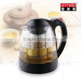Glass Tea pot with various color to choose , Anti-slip design ,pyrex glass teapot with infuser,glass pitcher with lid