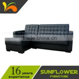 Modern Corner Leather Sofa Bed Furniture With Store Box